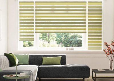 Ambiente-home-design-Savrolo-hangulatos-nappal-i-zöldcsíkos-sávrolóval